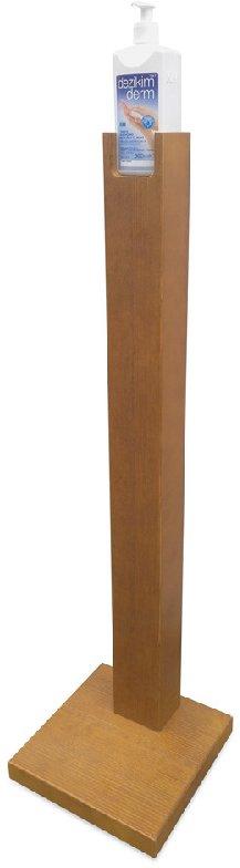 Leseno stojalo za razkužilo za roke